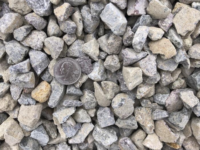 Crushed gravel rock