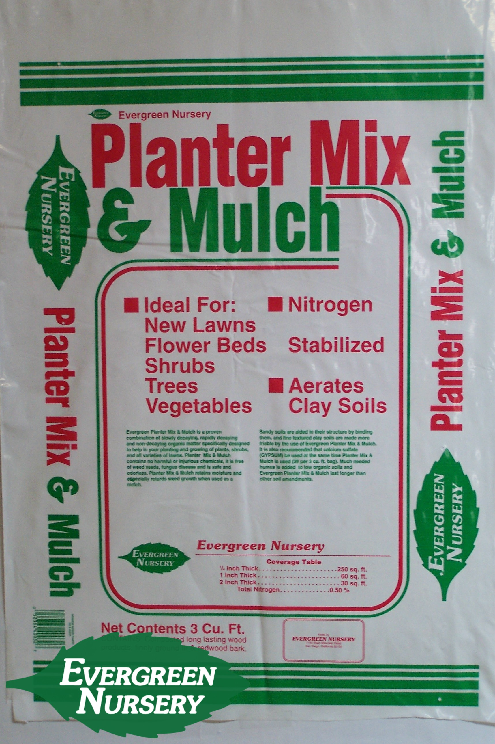 planter mix and mulch